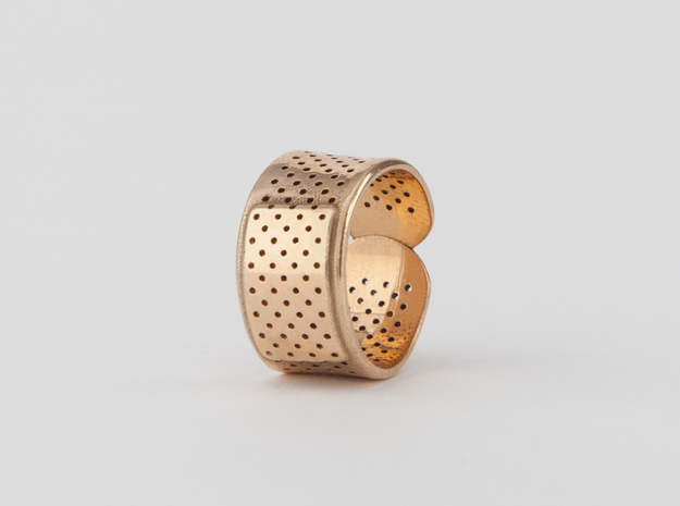 Bandage Ring in Polished Bronze: 7 / 54