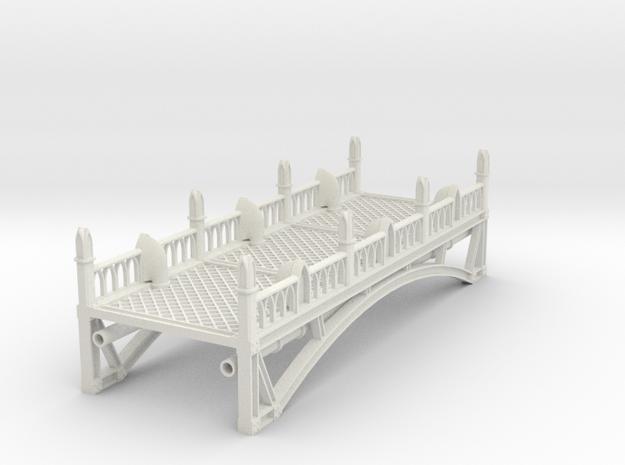 Tabletop Bridge - Long in White Natural Versatile Plastic: Small