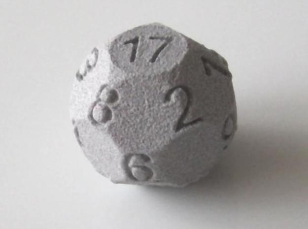 D17 Sphere Dice 3d printed In Alumide