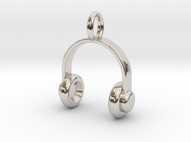 Headset - Pendant in Rhodium Plated Brass