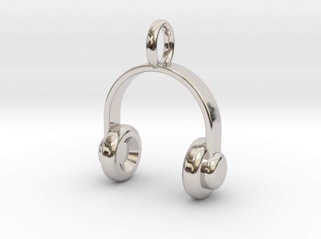 Headset - Pendant in Rhodium Plated Brass