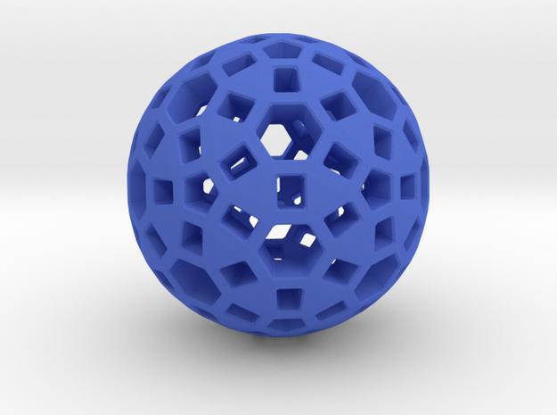 Spherical in Blue Processed Versatile Plastic
