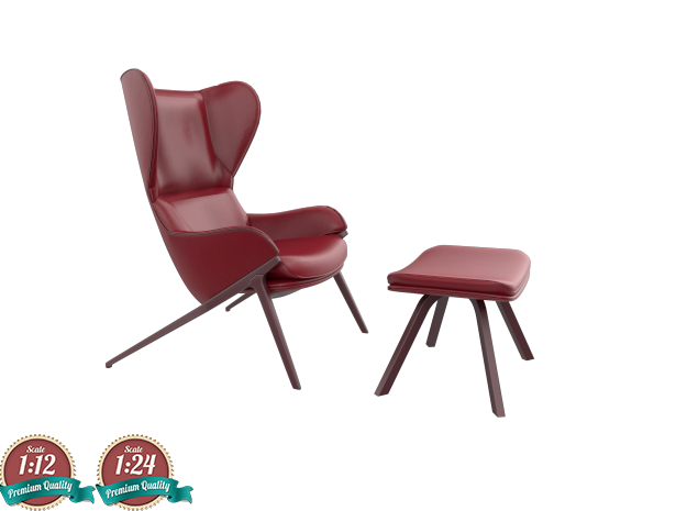 Miniature P22 Chair - Cassina in White Strong & Flexible: 1:24
