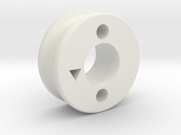 thumb_pulley_m in White Natural Versatile Plastic