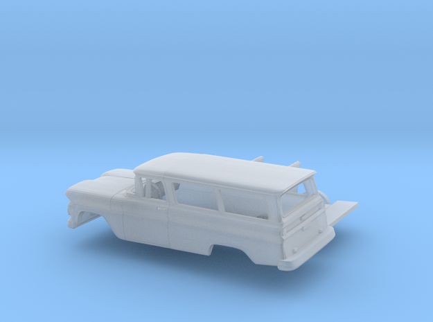 1/160 1960/61 Chevrolet Suburban Kit in Smooth Fine Detail Plastic