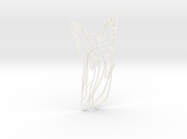 Angel charm in White Strong & Flexible Polished