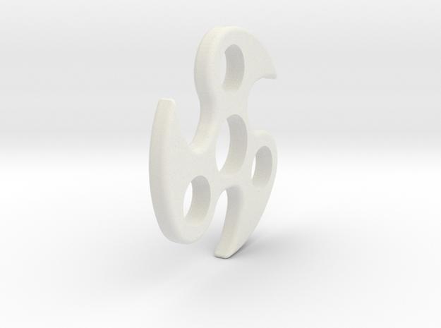 Ace Spinner Version P in White Natural Versatile Plastic