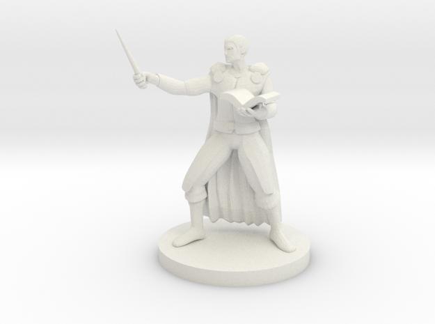 Human Wand Wizard in White Natural Versatile Plastic