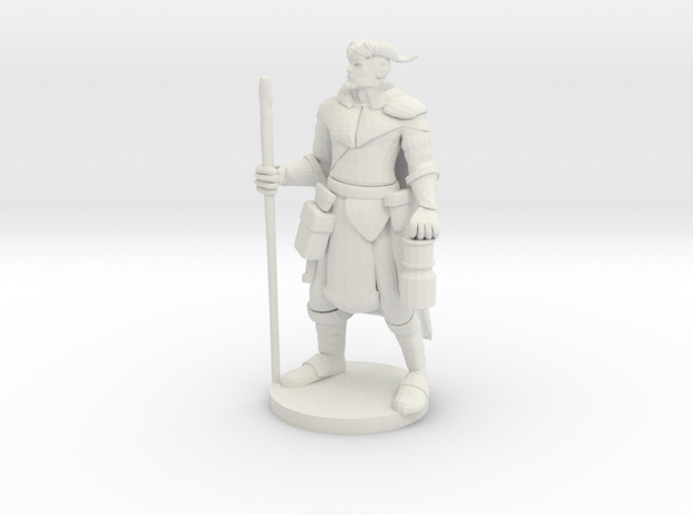 Horned Forest Guardian in White Natural Versatile Plastic