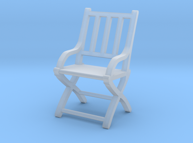 1:87 Slatted Folding Wooden Civil War Chair in Frosted Ultra Detail
