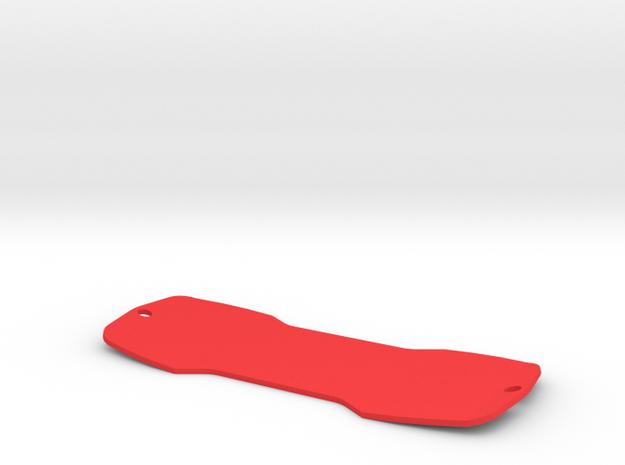 Finger Air Board in Red Processed Versatile Plastic