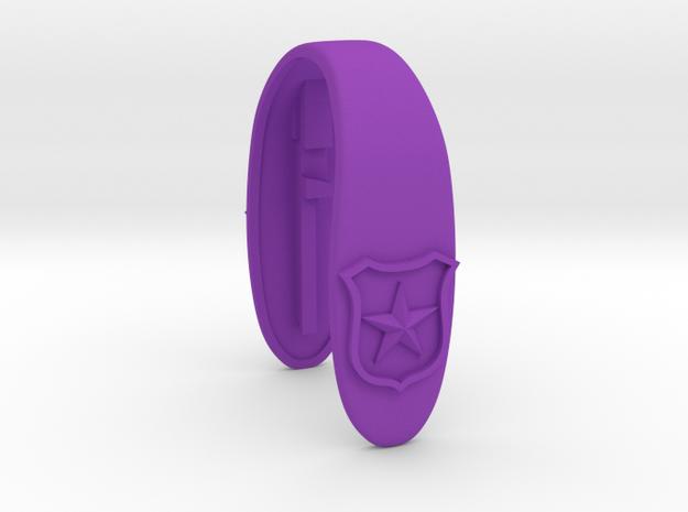 BADGE KEY FOB  in Purple Processed Versatile Plastic