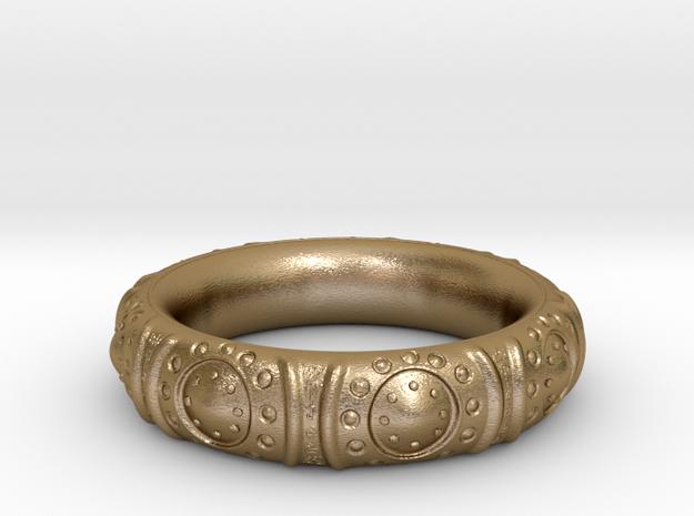 Tibetan_Bracelet Medium in Polished Gold Steel