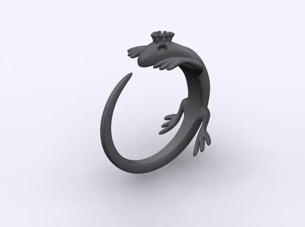 King lizard ring 3d printed Description