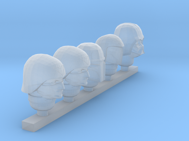 officer random heads in Smooth Fine Detail Plastic