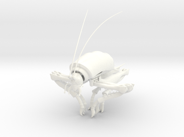 Articulated Cave Weta in White Strong & Flexible Polished