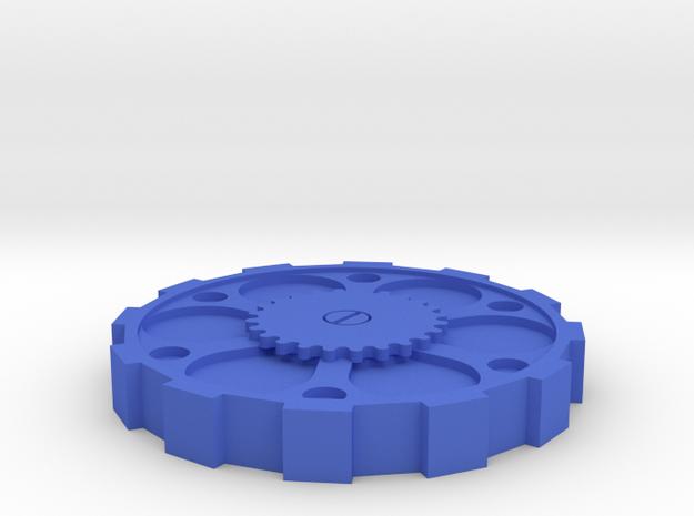 Steam Punk Okito Box Lid USA Half Dollar in Blue Processed Versatile Plastic