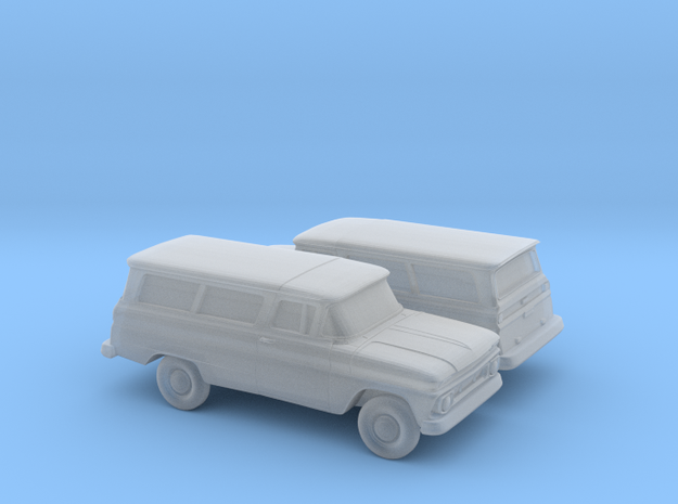 1/160 2X 1962 Chevrolet Suburban in Frosted Ultra Detail