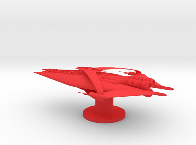 Narn - GQuan Cruiser (5 x / 2.844 y / 1.556 z) in Red Strong & Flexible Polished