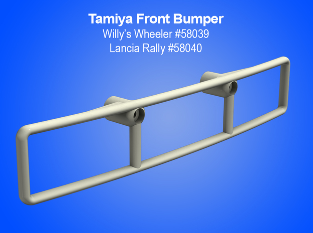 Tamiya RC Front Bumper for Vintage Willy's Wheeler in White Natural Versatile Plastic