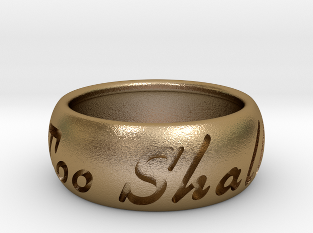 This Too Shall Pass ring size 10 3d printed Pass Black