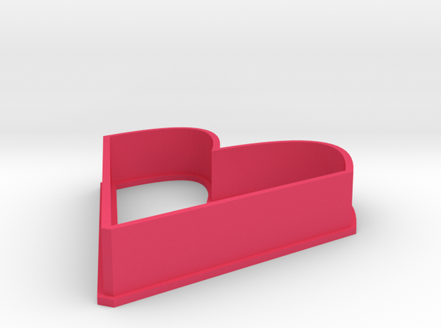 heart shaped cookie cutter in Pink Processed Versatile Plastic