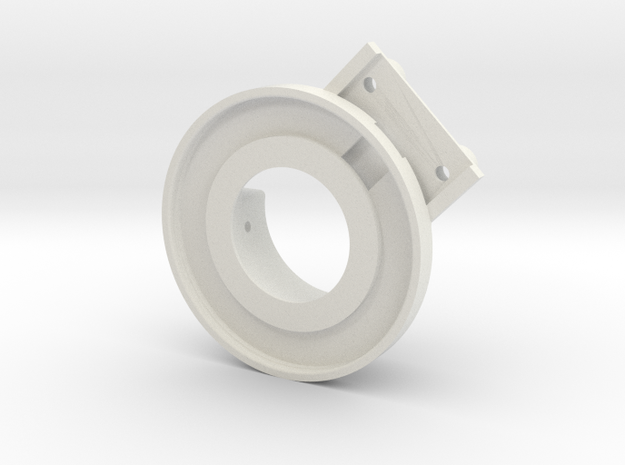 rampage_encoder_mount_right_front in White Strong & Flexible