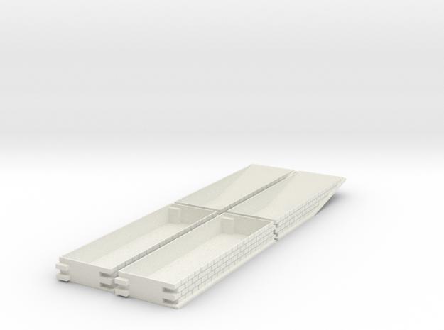 N gauge platforms textured, seamless joints.