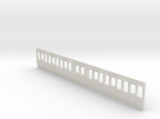 GWR Carriage side Diagram D2 40ft in 4mm scale