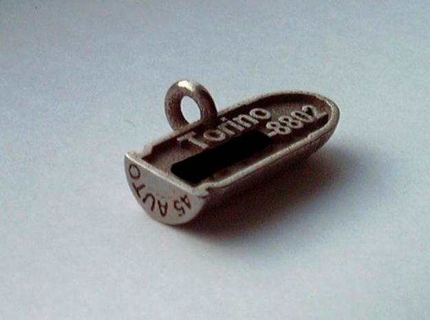 .45ACP Bullet Pet Tag 3d printed back side of .45 cal bullet pet tag (stainless steel version)