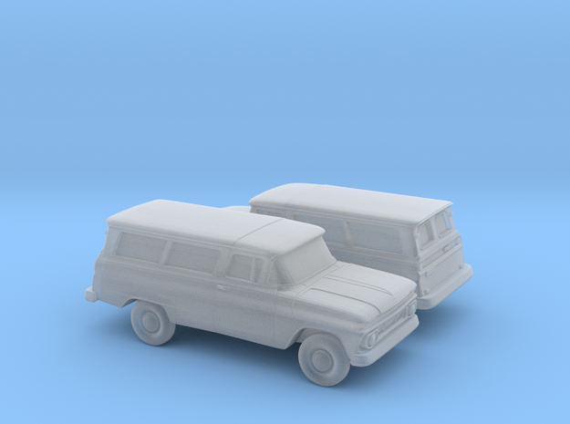 1/160 2X 1962 Chevrolet Suburban Split Rear Doors in Smooth Fine Detail Plastic