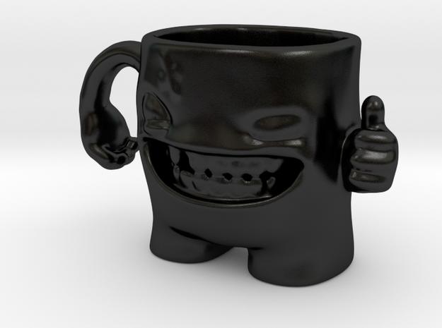 Evil Monster Mug in Matte Black Porcelain