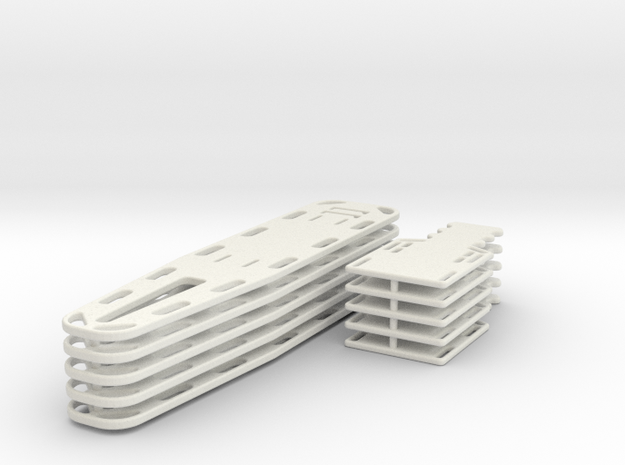1/16 spineboards in White Natural Versatile Plastic