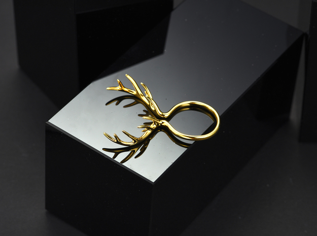 Antler Ring No.1 in 14k Gold Plated