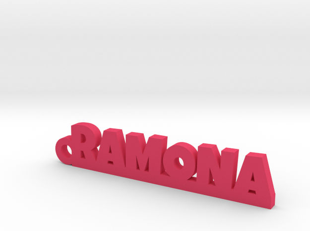 RAMONA_keychain_Lucky in Pink Processed Versatile Plastic