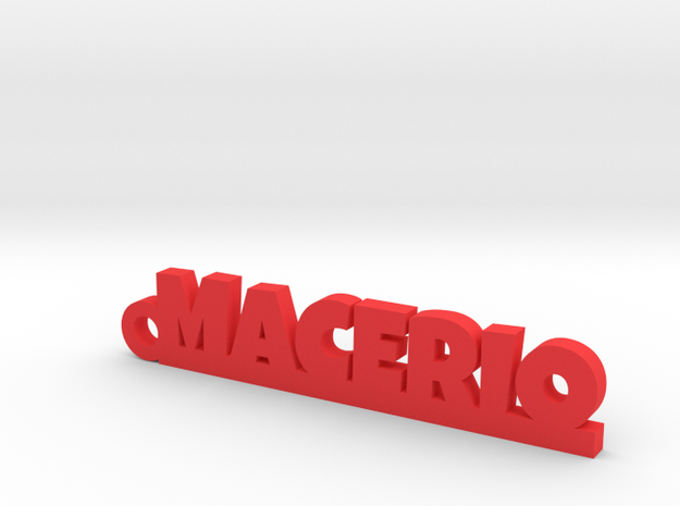 MACERIO_keychain_Lucky in Red Processed Versatile Plastic