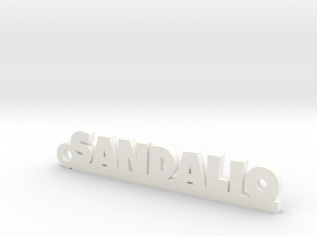 SANDALIO_keychain_Lucky in White Processed Versatile Plastic