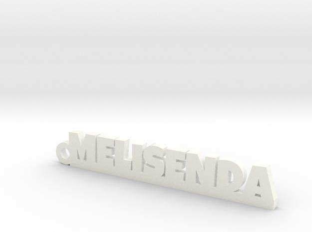 MELISENDA_keychain_Lucky in White Processed Versatile Plastic