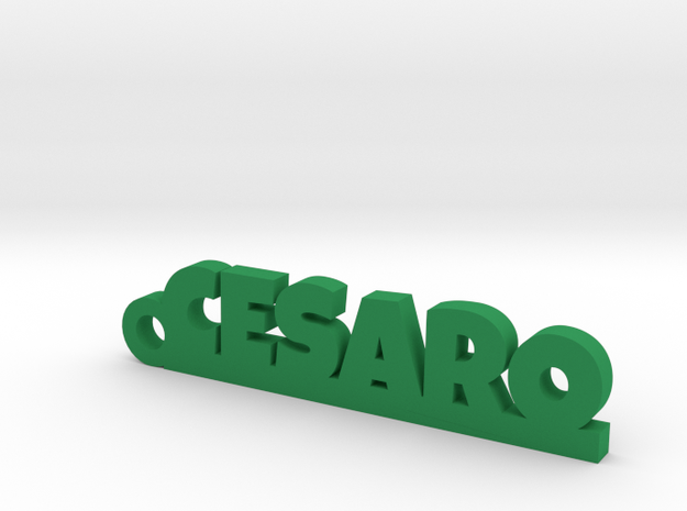 CESARO_keychain_Lucky in Green Processed Versatile Plastic