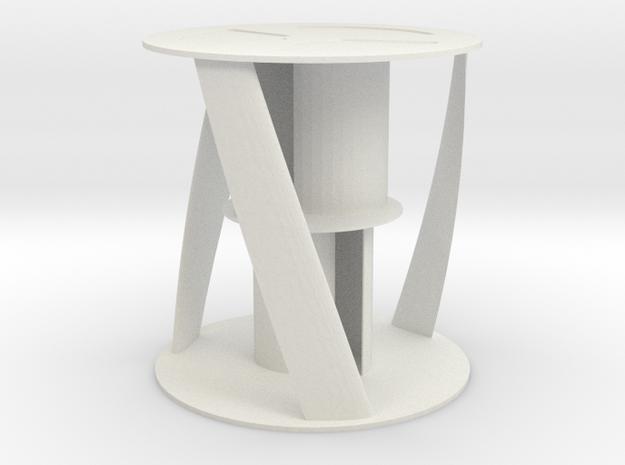 Vertical Wind turbine D90mm H94mm in White Natural Versatile Plastic