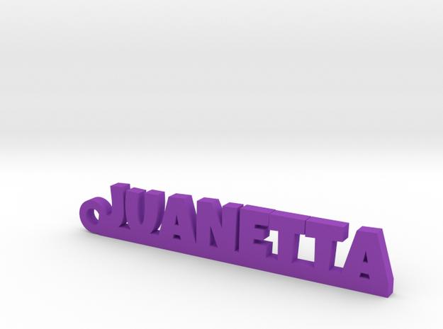 JUANETTA_keychain_Lucky in Purple Processed Versatile Plastic