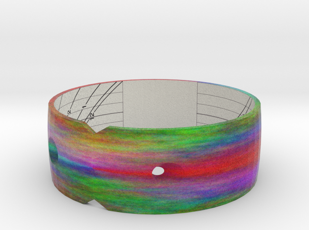 "Sundial Bangle 42N 3.1"" in Full Color Sandstone"