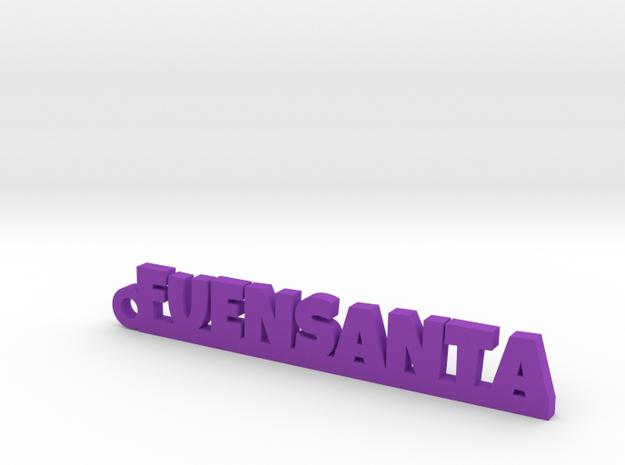 FUENSANTA_keychain_Lucky in Purple Processed Versatile Plastic