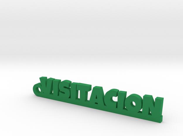 VISITACION_keychain_Lucky in Green Processed Versatile Plastic