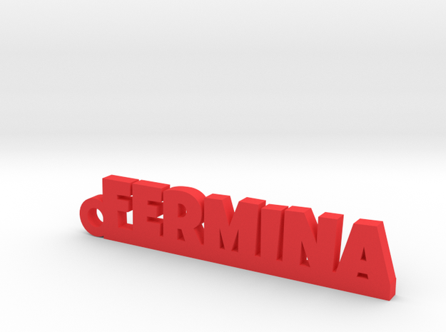 FERMINA_keychain_Lucky in Red Processed Versatile Plastic