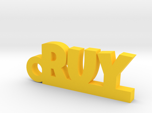 RUY_keychain_Lucky in Yellow Processed Versatile Plastic