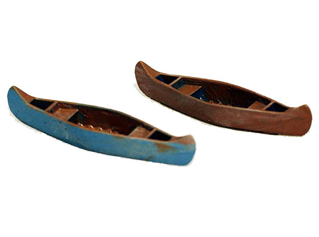 Canoe Accurate in HO Scale in Smooth Fine Detail Plastic