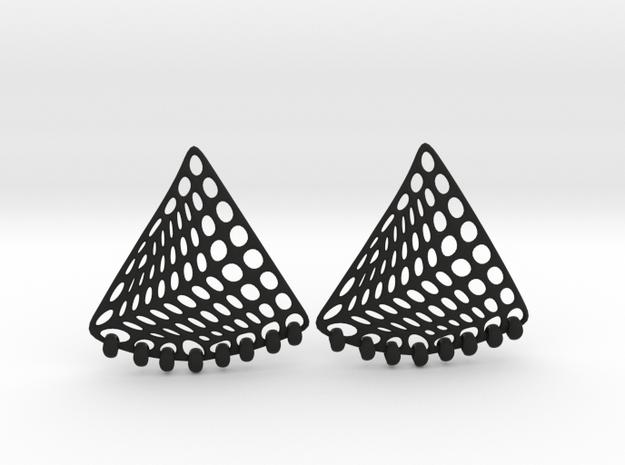 Baumann Swing Earrings in Black Natural Versatile Plastic: Small