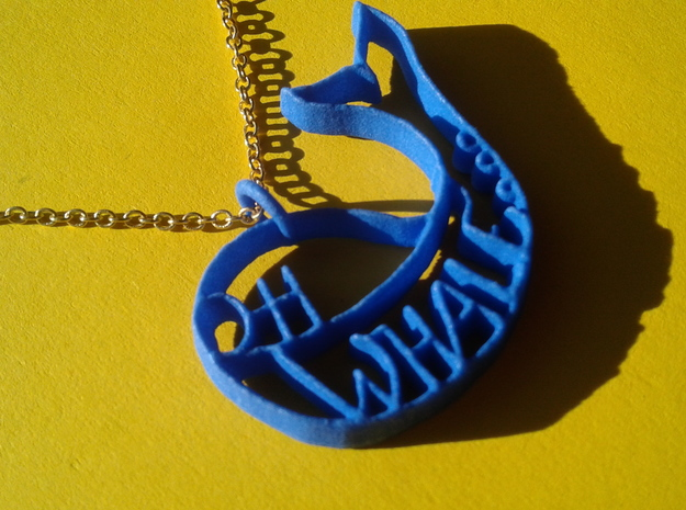 Oh whale... in Blue Strong & Flexible Polished