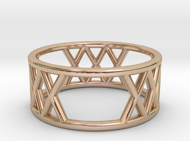 XXX Ring Size-5 in 14k Rose Gold